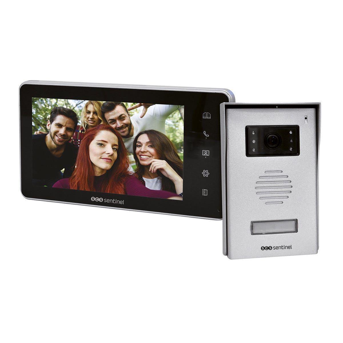 SCS_SENTINEL Kit Videocitofonico Monofamiliare Scs Modello Visiokit 7 Con Monitor 7'' A Colori 2 Fili