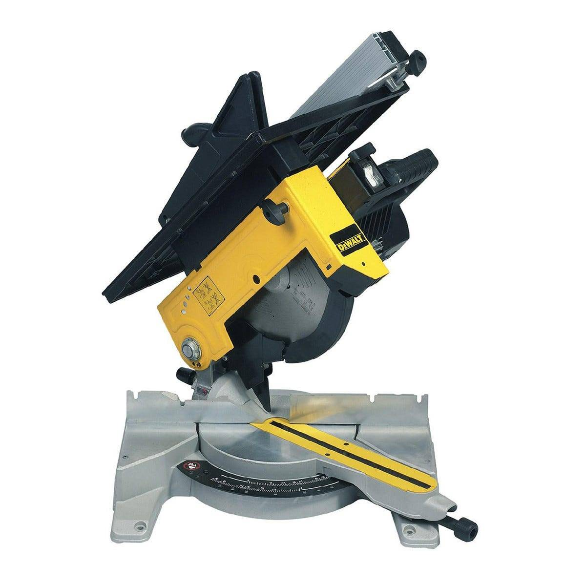 dewalt troncatrice  1300 w dw711-qs con pianetto 260 mm con lama 60 denti peso 24 kg