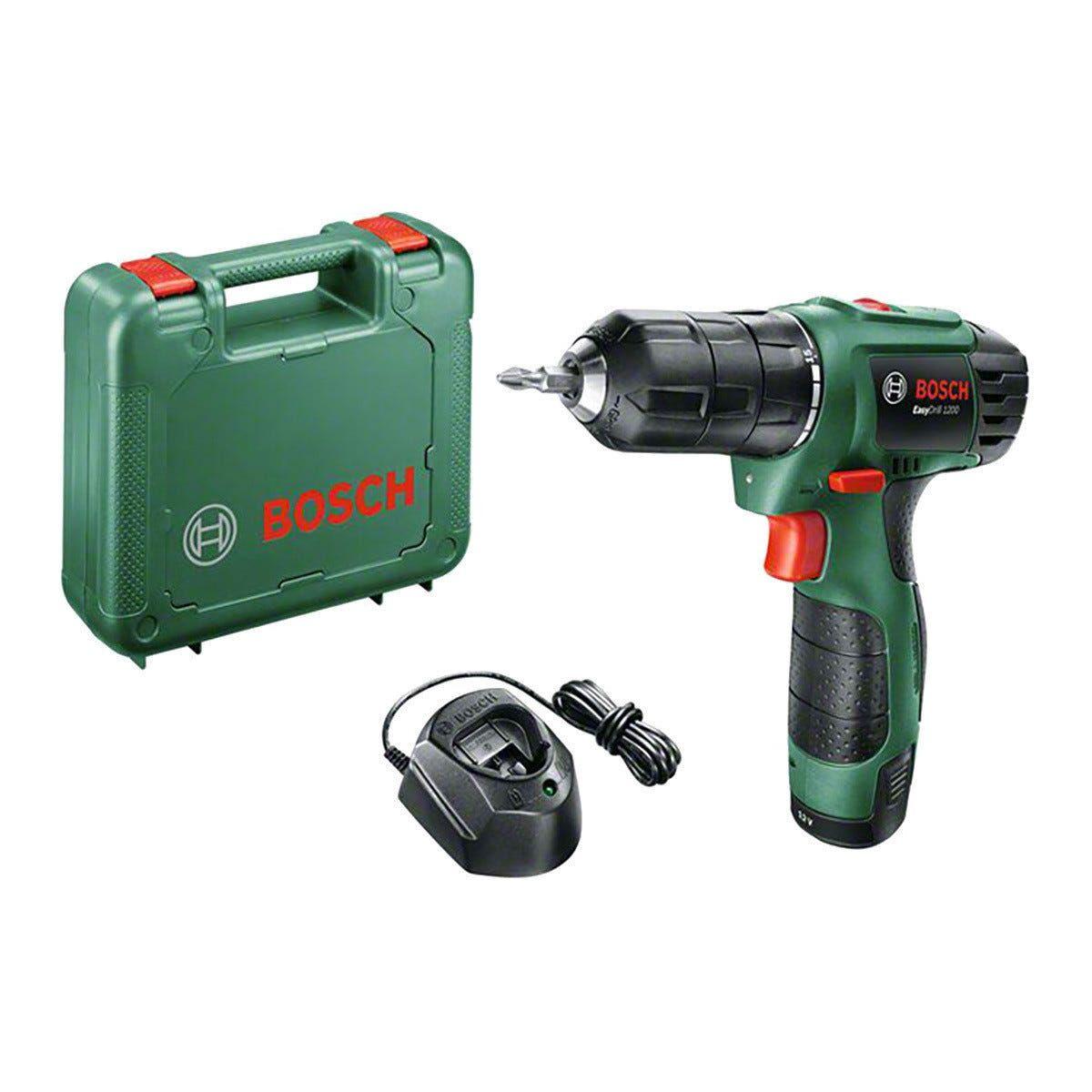 Bosch Trapano Avvitatore  12 V Easydrill 1200 2 Batterie Litio 1,5 Ah Set 38 Accessori
