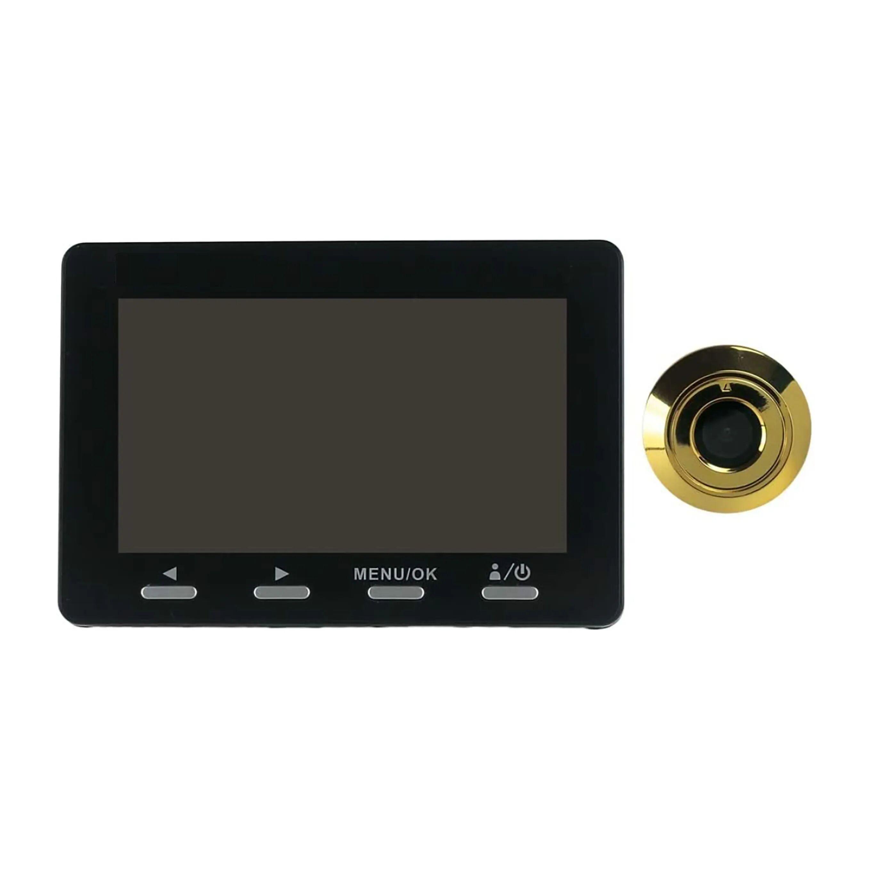 PROXE Spioncino Digitale Lcd 4,3'' 1 Mpx Angolo Di Visione 120° Zoom 8x Sd 128 Gb Non Inclusa
