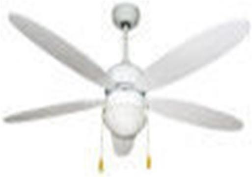 ventilatore da soffitto zephir Ø 132 cm 5 pale bianco con luce e comando a cordicella