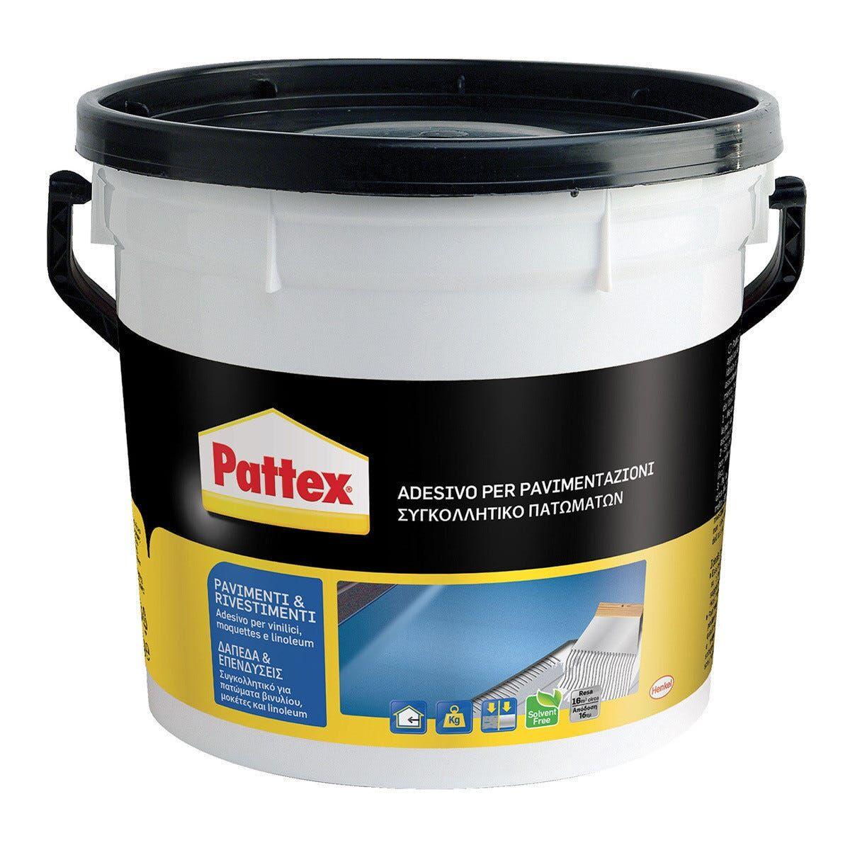 PATTEX Adesivo Pavimenti E Rivestimenti 5 Kg Per Vinilici Moquettes E Linoleum