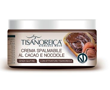 Tisanoreica CREMA SPALMABILE AL CACAO E NOCCIOLE 100 gr