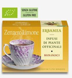 erbamea zenzero e limone 20 bustine filtro da agricoltura biologica