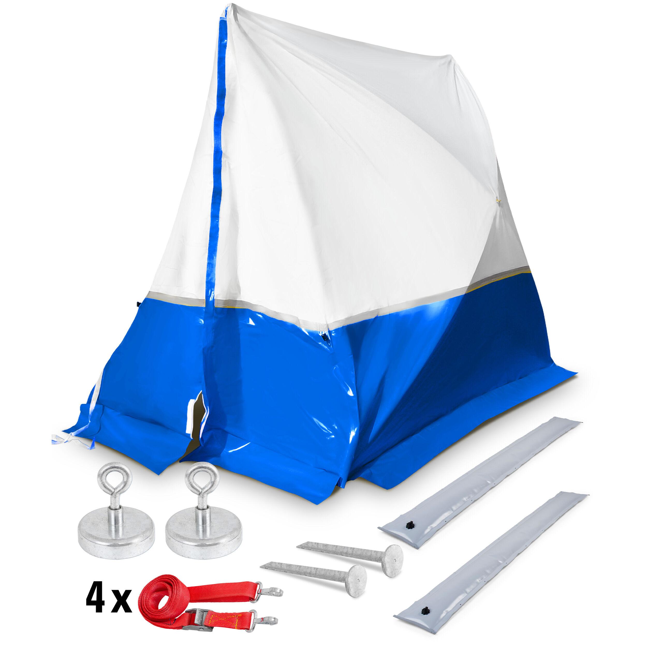 trotec tenda da lavoro 250 te 250*200*190 a tetto spiovente - blu + accessori