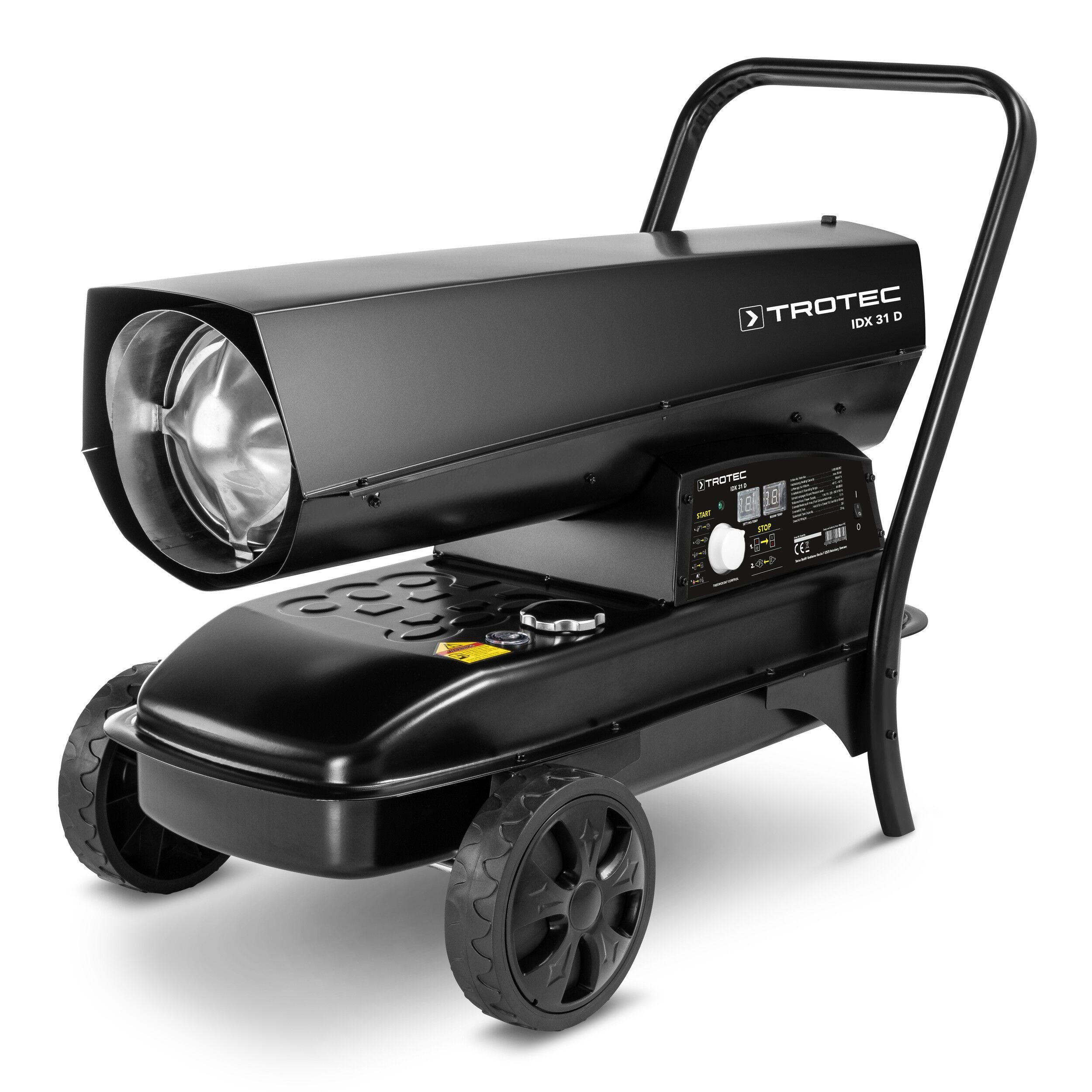 trotec generatore d'aria calda a gasolio diretto idx 31 d