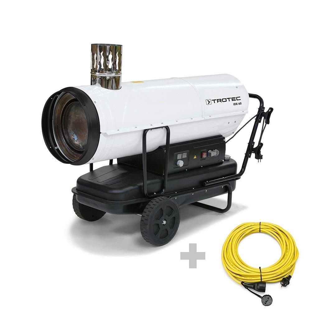 trotec generatore d'aria calda ide 60 + prolunga professionale 20 m / 230 v / 2,5 mm²