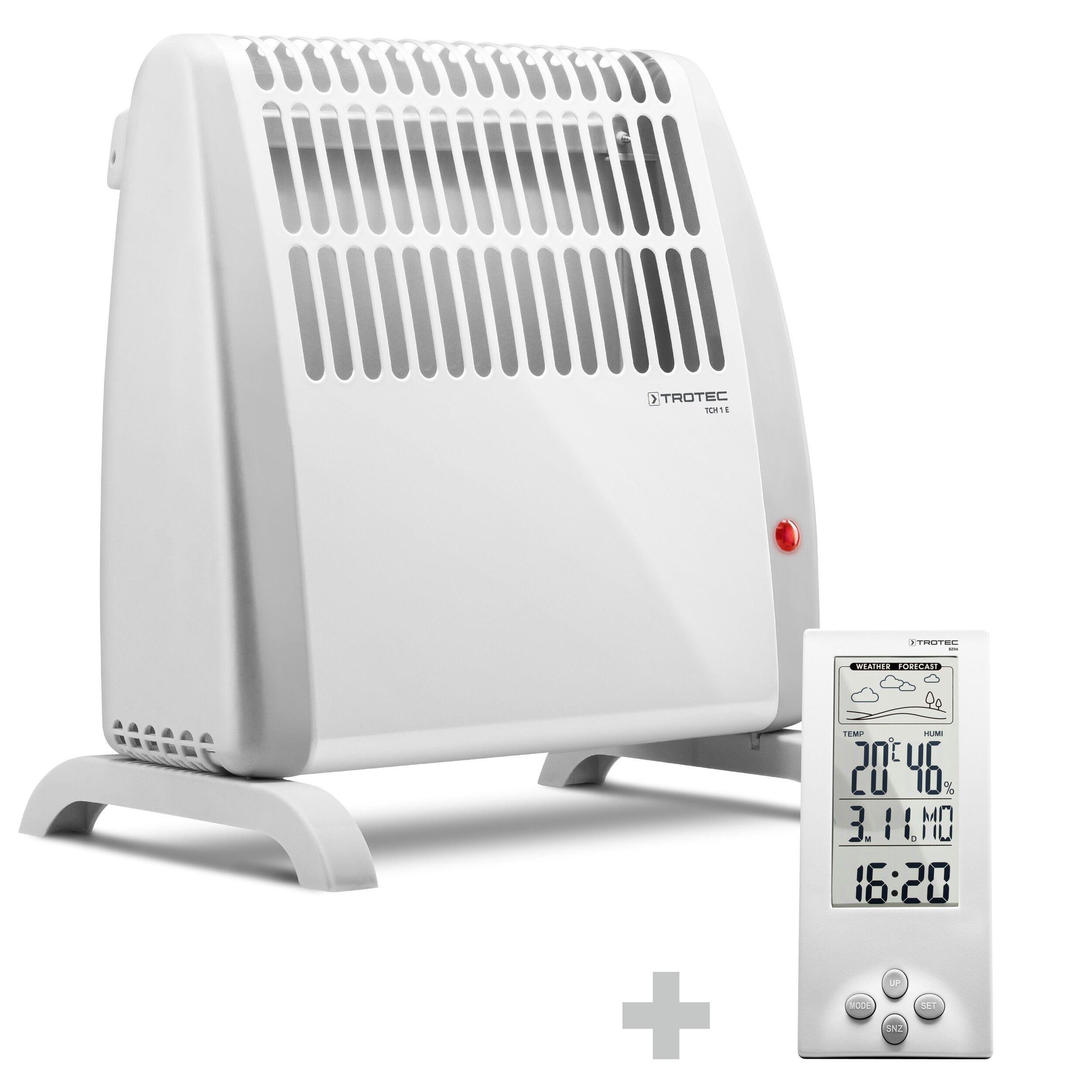 trotec termoconvettore tch 1 e + termoigrometro bz06