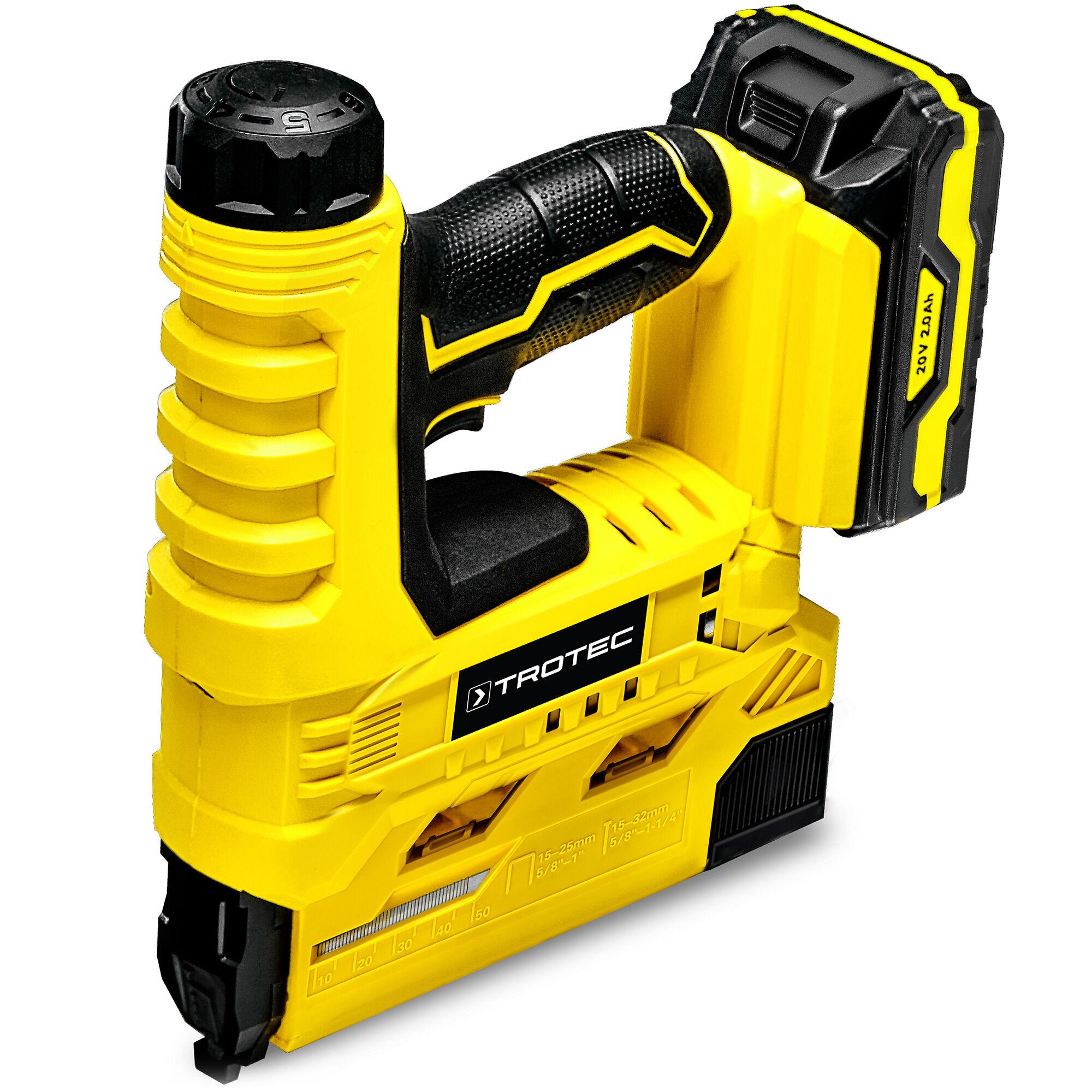 trotec graffatrice a batteria ptns 10-20v + cesoie per erba e arbusti a batteria pgss 10-20v