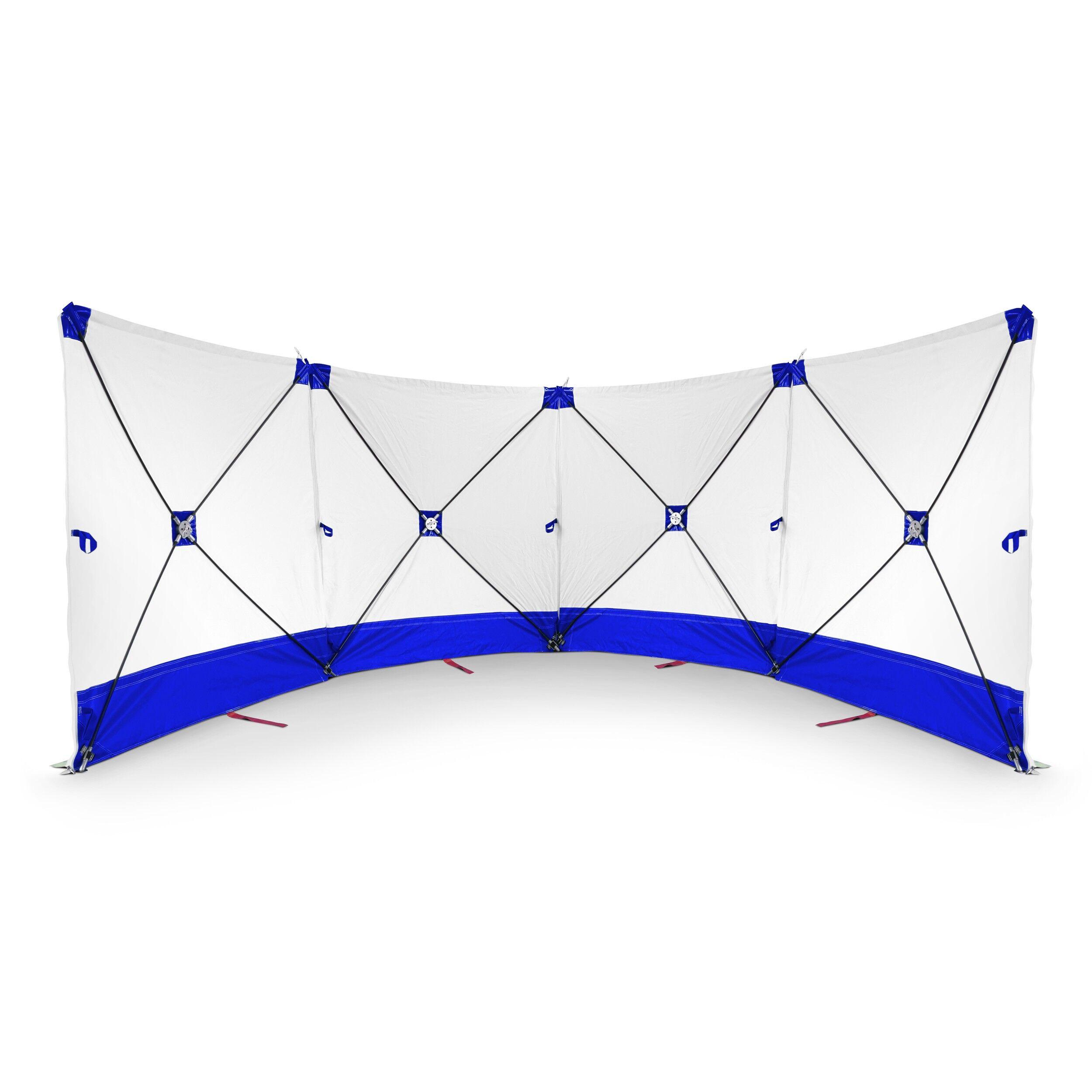 Trotec Schermo protettivo mobile 4*180*180 bianco e blu