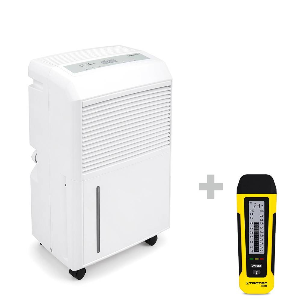 trotec deumidificatore ttk 90 e + indicatore di umidità bm22
