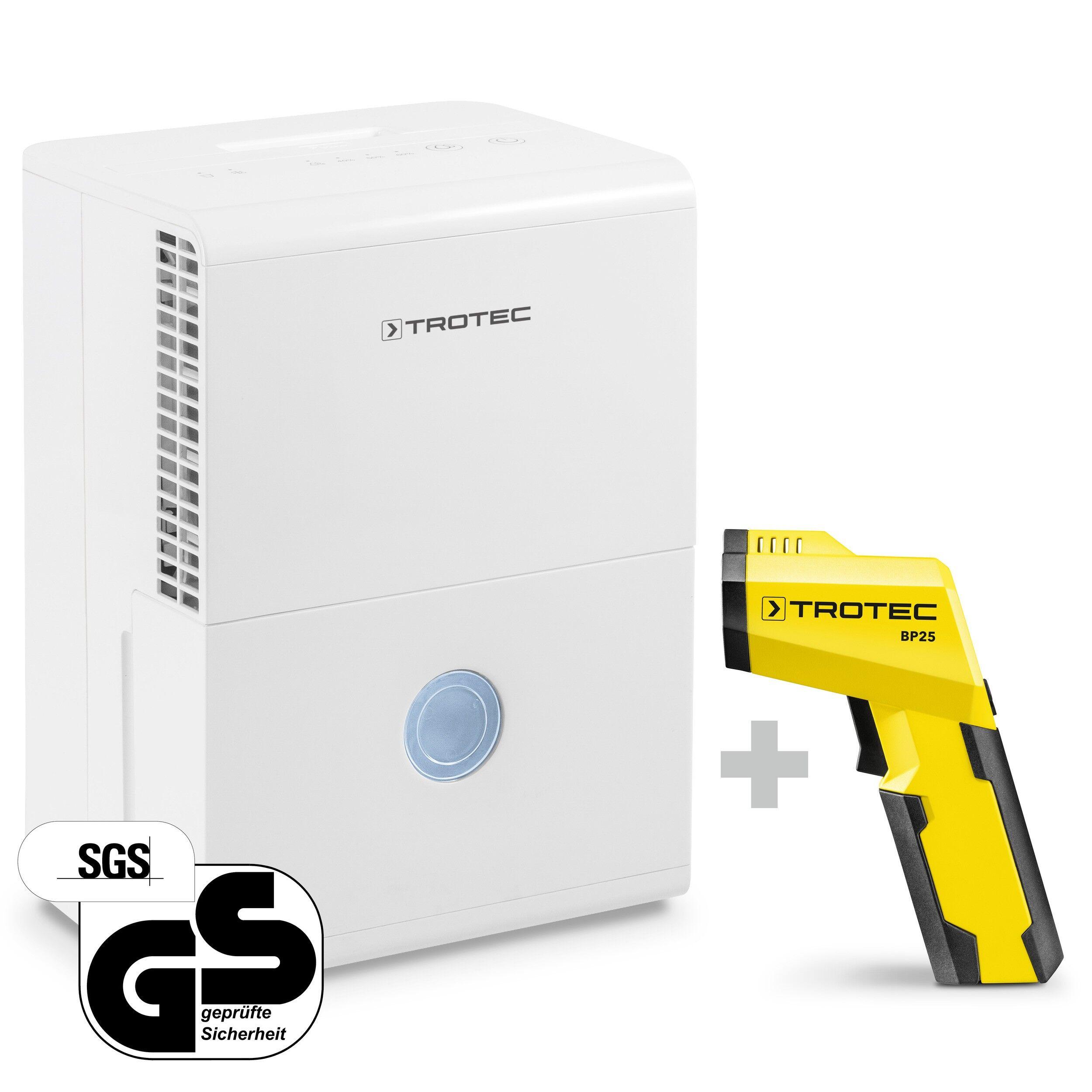 trotec deumidificatore ttk 28 e + pirometro-scanner del punto di rugiada bp25
