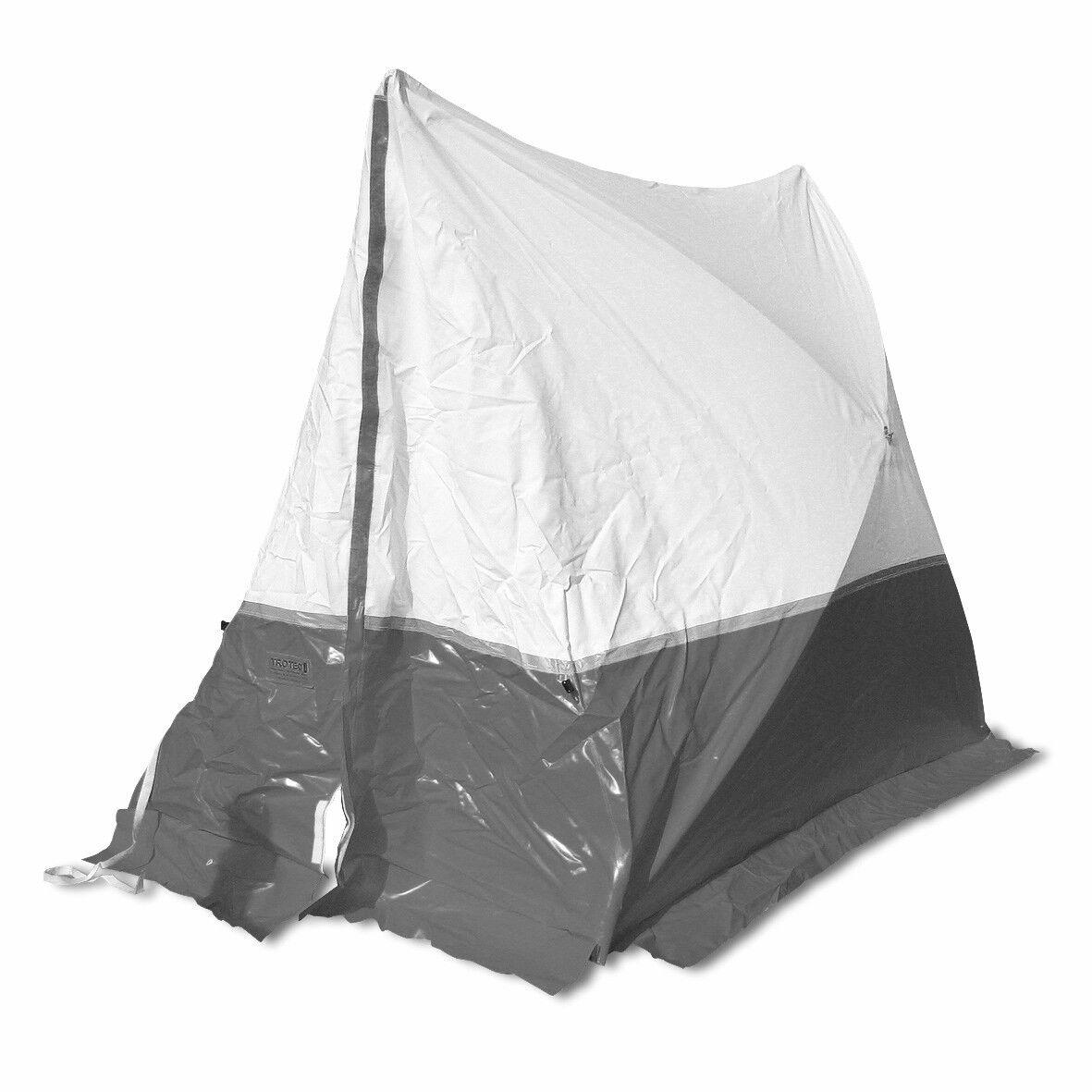 trotec tenda da lavoro 180 te 180*180*170 a tetto spiovente in grigio