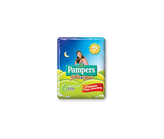 PAMPERS Pannolini Sole E Luna Taglia 6 Xl 13 Pezzi
