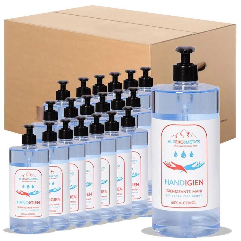 Alpeko Gel igienizzante mani, box da 20 flaconi a base alcolica 400ml Materiale Igienizzante