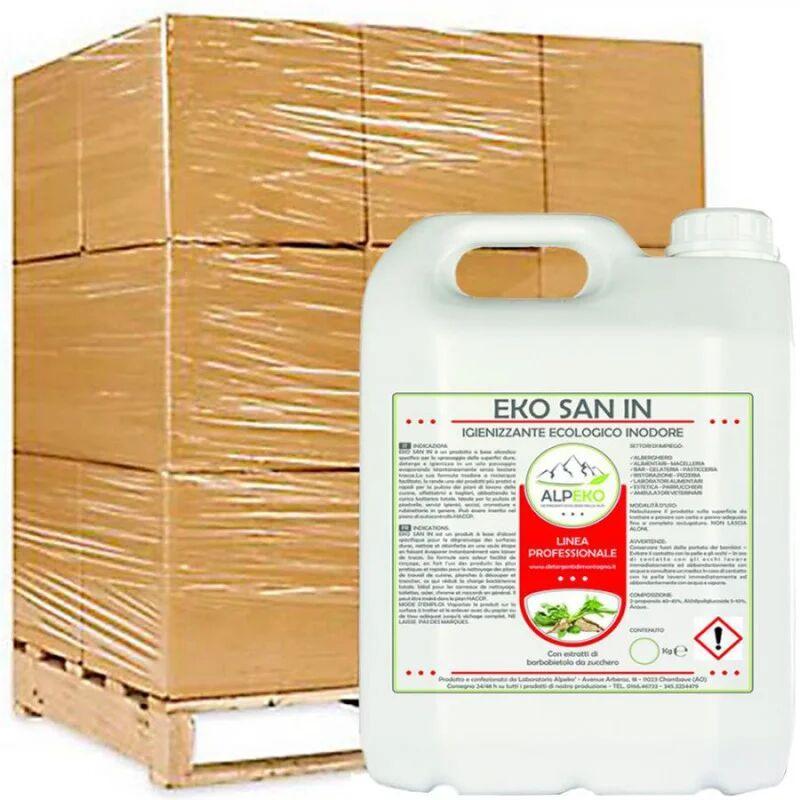 Alpeko 120 Taniche da 5Kg, Prodotto igienizzante e detergente, idoneo HACCP. EKO SAN IN Materiale Igienizzante