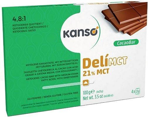 dr. schar kanso delimct cacao bar 21% 100 g