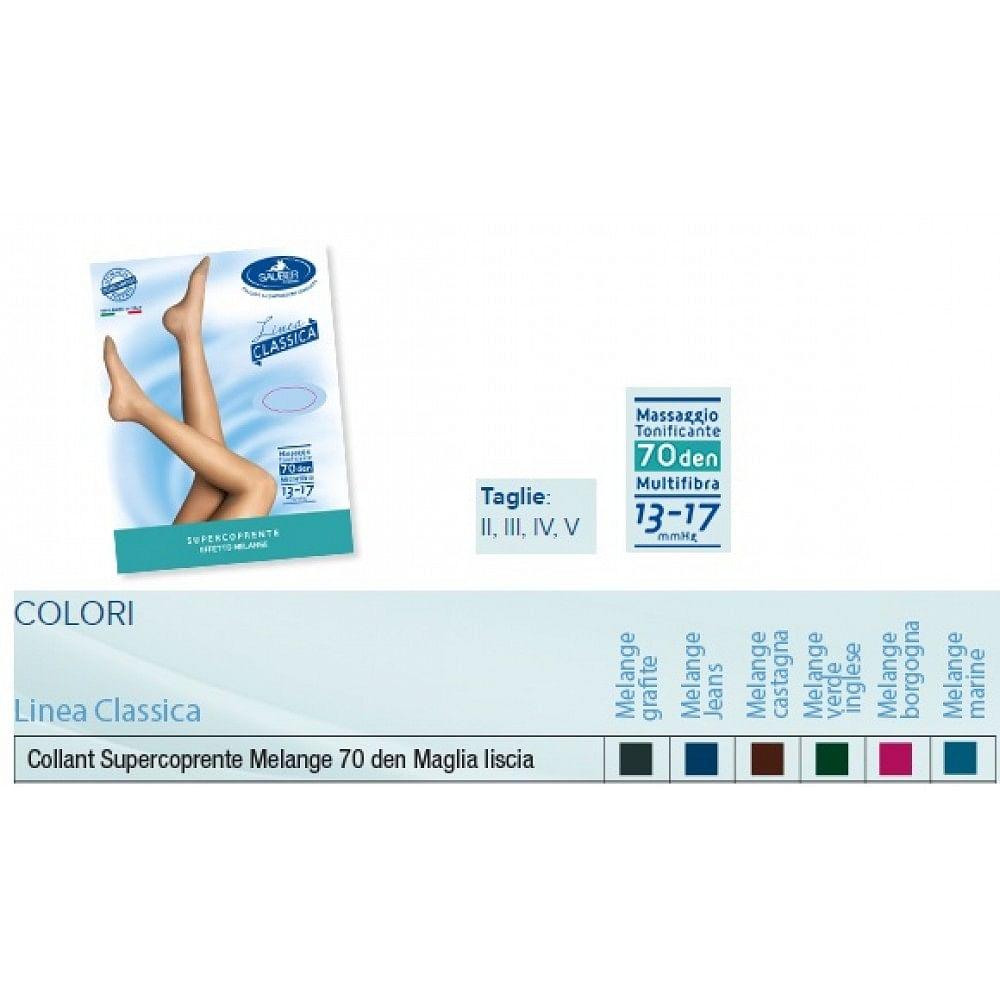 sauber collant 70 denari super coprente maglia liscia melange jeans 3 linea clas