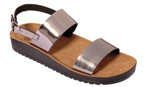 Dr. Scholl Scarpa Cynthia Sandal Mirror Synthetic W Pewter Tomaia In Similpelle A Specchio+