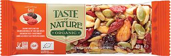 la finestra sul cielo taste of nature barretta al goji bio vegan ad alto contenuto di fibre 40 g