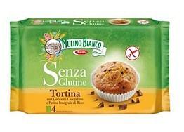 Barilla Mulino Bianco Tortina Con Farina Integrale Di Riso E Gocce Di Cioccolato 140 G