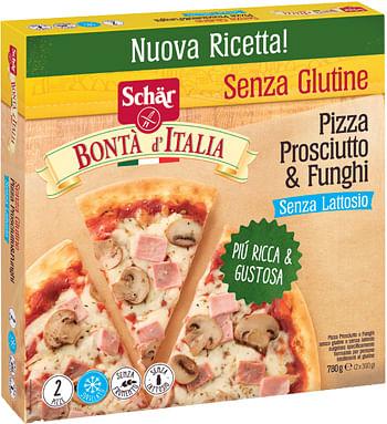 Dr. Schar Schar Surgelati Pizza Prosciutto & Funghi Bonta'Italia 2 Pezzi X 390 G
