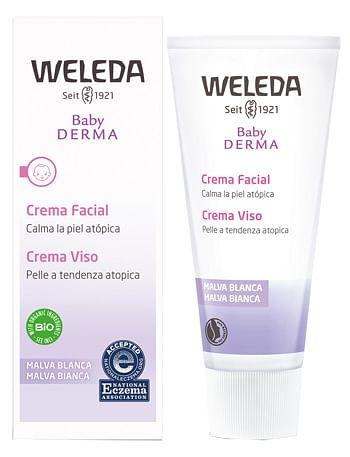 weleda italia srl baby derma crema viso malva 50 ml