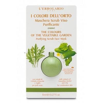 l'erbolario i colori dell'orto verde maschera scrub viso purificante 8 ml