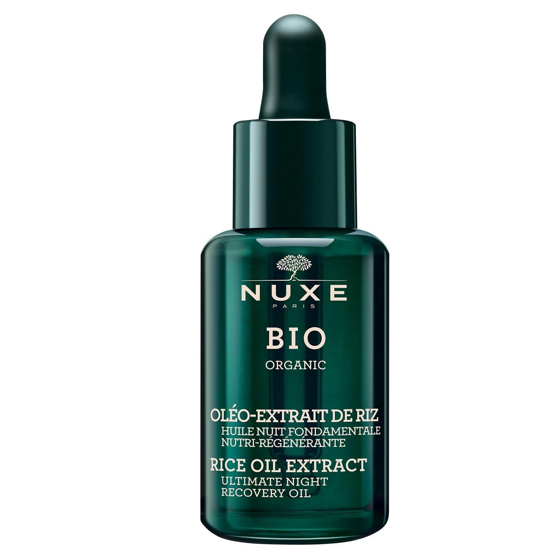 nuxe bio organic oleo extract riz huile nuit fondamentale nutri regenerante 30 m