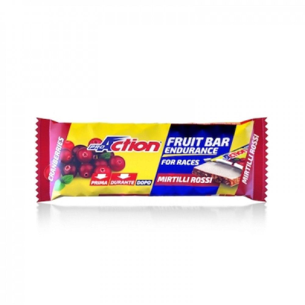 proaction fruit bar barretta energetica al mirtillo rosso 40 g