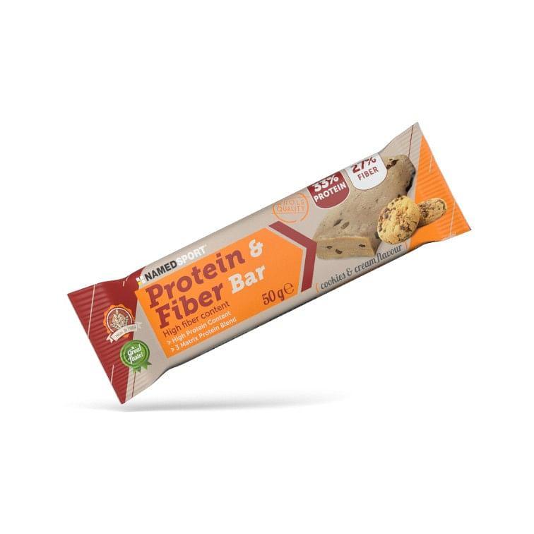 named protein & fiber bar cookies & cream 50 g