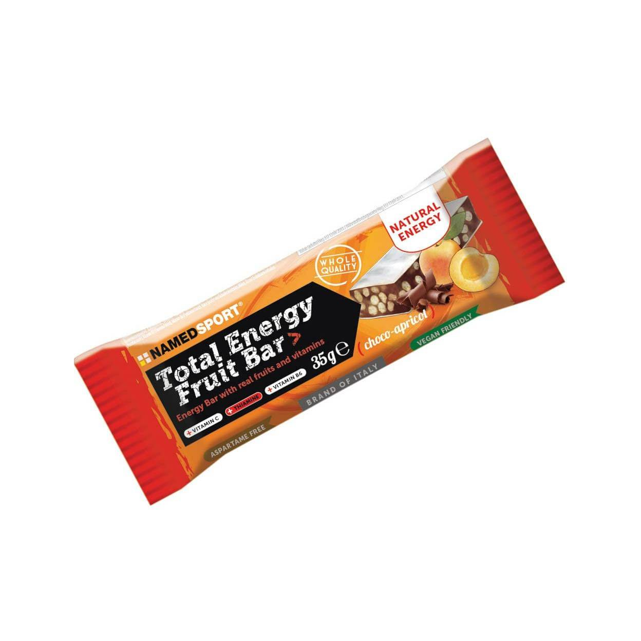 named total energy fruit bar choco-apricot 35 g