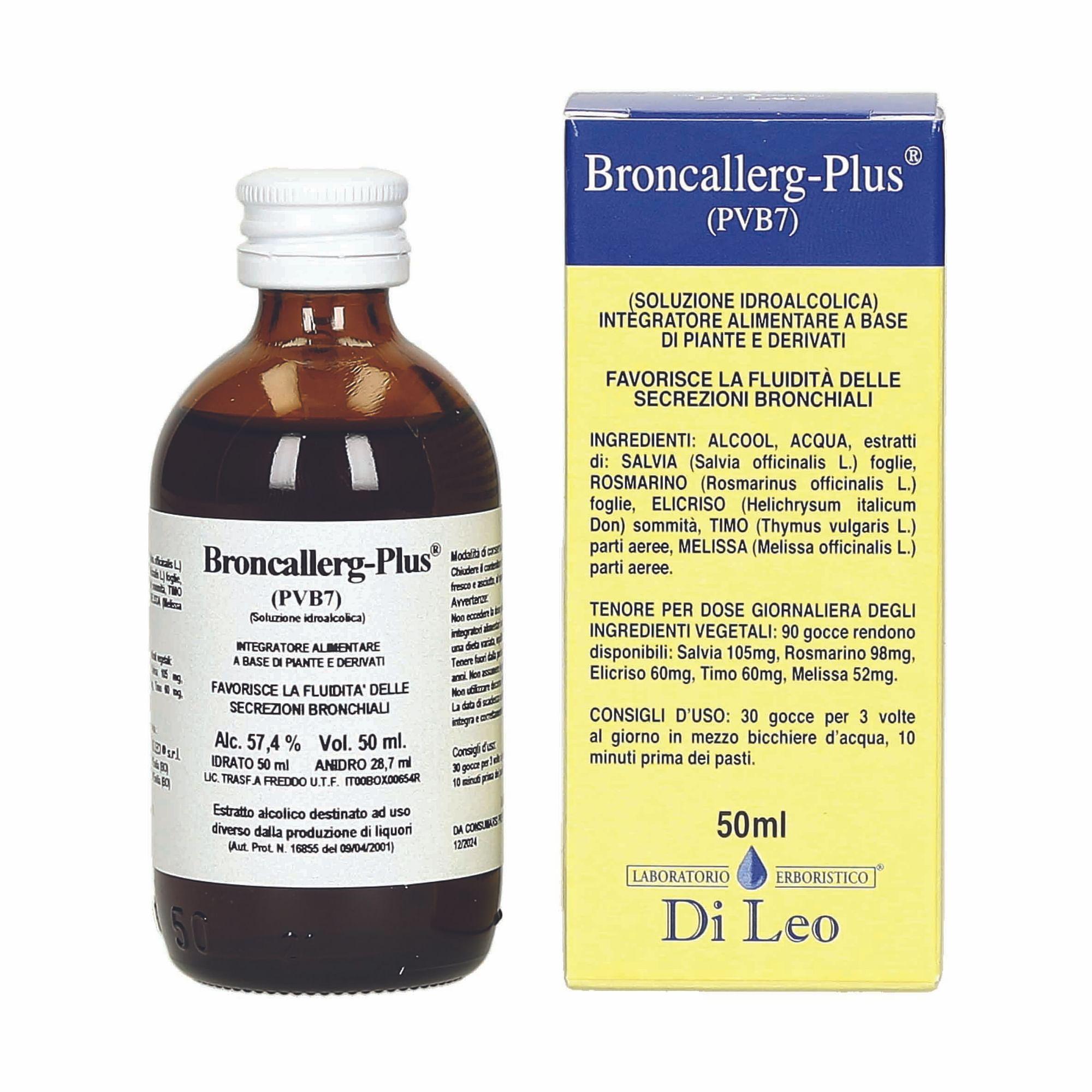 laboratorio erboristico di leo broncallerg-plus composto pvb 7 50 ml