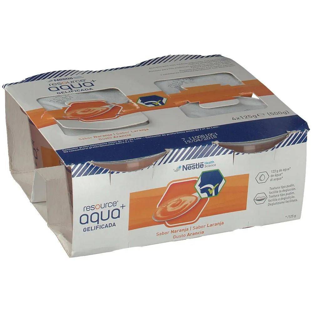 resource acqua + no zucchero arancia 4 vasetti 125 g