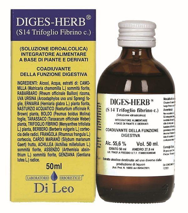 laboratorio erboristico di leo diges-herb composto s 14 trifoglio fibrino 50 ml