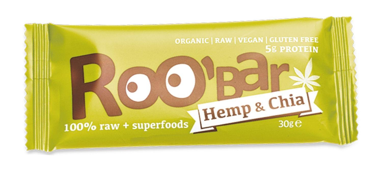 roobar roo'bar barretta 100% cruda canapa e chia bio 30 g