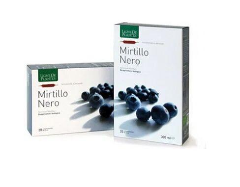 natura service mirtillo nero biologico 20 ampolle bevibili da 15 ml