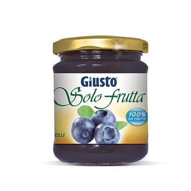Giusto Solo Frutta Marmellata Mirtilli 284 G