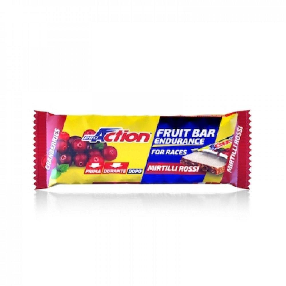 proaction fruit bar barretta energetica al mirtillo rosso 40 g