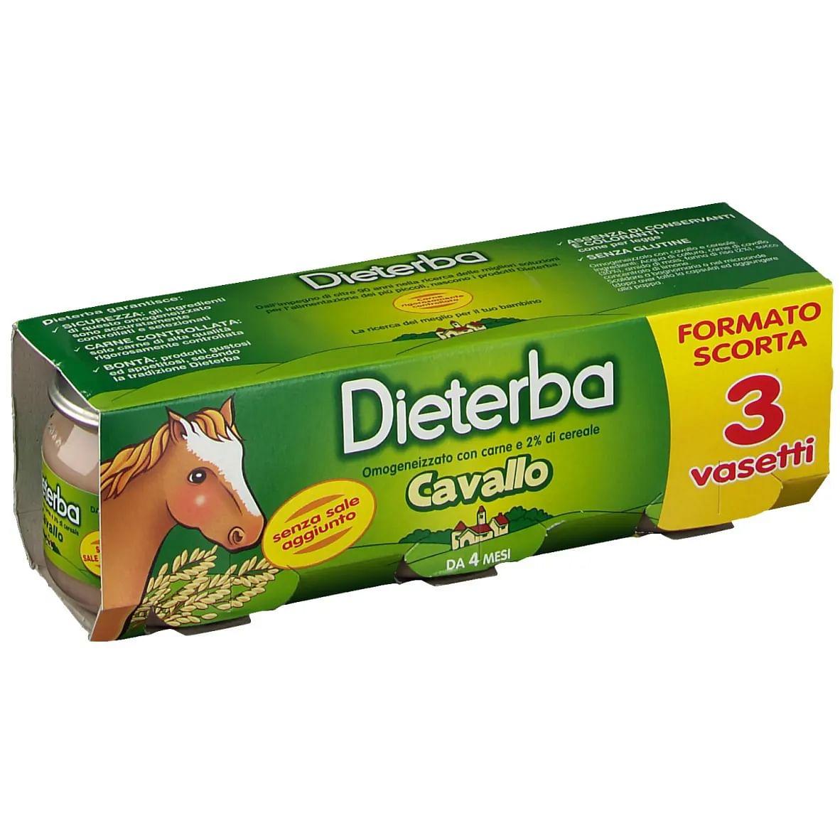 Dieterba Omogeneizzato Cavallo 3 Pezzi 80 G