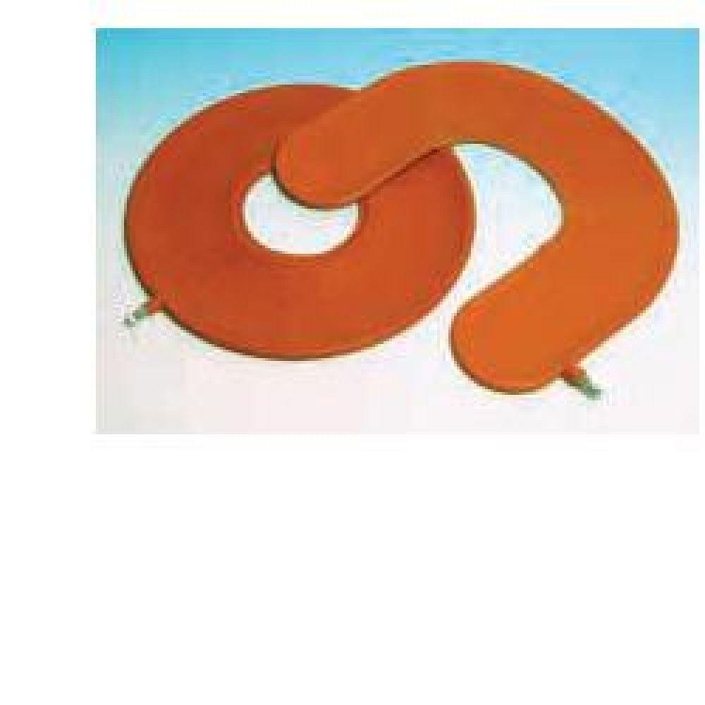 farmac zabban cuscino antidecubito pneumatico in gomma rossa. larghezza della ciambella 45cm