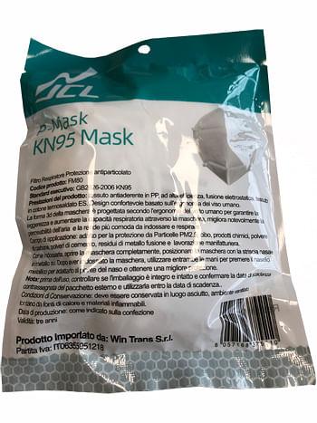 miti spa mascherina facciale p-mask ffp3 5 pezzi