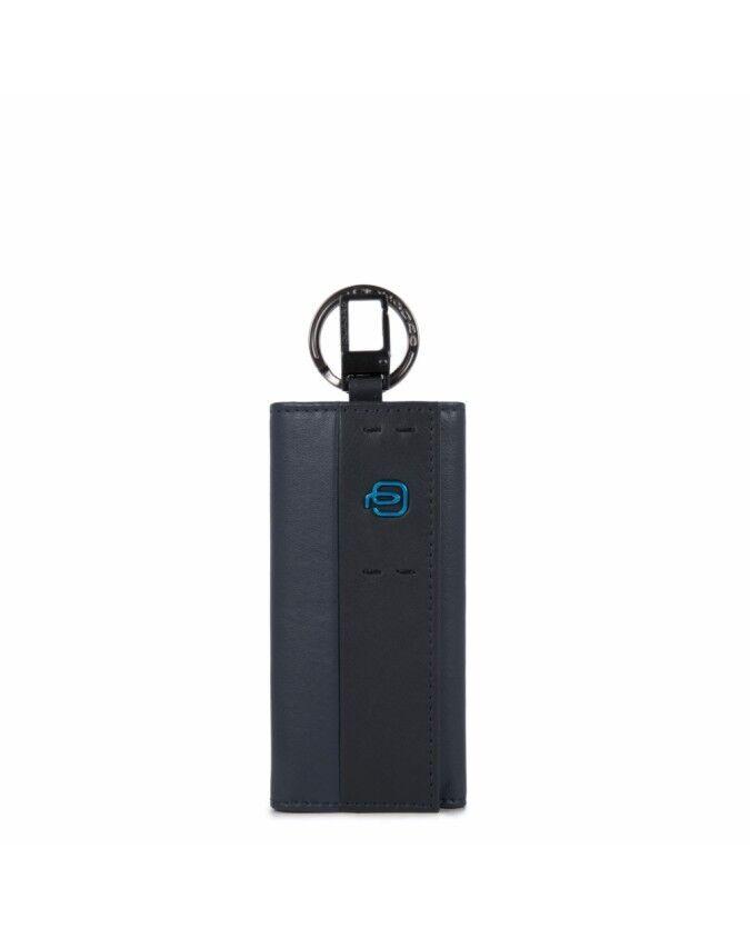 Piquadro Portachiavi per porta blindata con moschettone Blu PC1397P15/BLU3