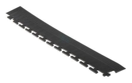 COBA Bordo angolare smussato  in PVC, 0.585mm x 585mm x 5mm, col. nero, TLC010001E