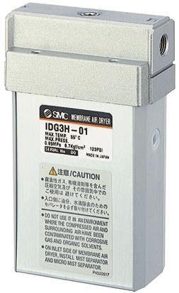 smc essiccatore aria  , attacco ingresso g 1/8, attacco uscita g 1/8, pressione max ingresso 0.85mpa, idg5-f01-s