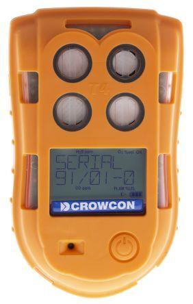 crowcon rilevatore gas , gas rilevati monossido di carbonio, solfuro di idrogeno, ossigeno, t4-hocl, t4-hoca/rs