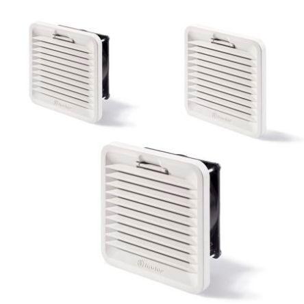 Finder Ventilatore con filtro  250 x 250mm, 230 V c.a., 230m³/h, rumorosità 53dB(A), 7F.50.8.230.4230