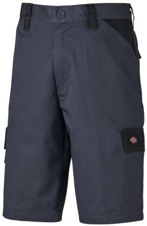 Dickies Pantaloncini da lavoro di col. Grigio/nero  ED24/7SH, vita 32poll, ED24/7SH GYB 32