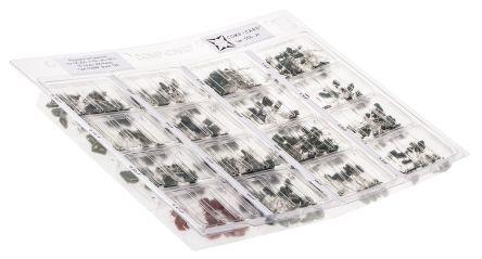 Nova Kit di condensatori  , PET Su foro, 405 pezzi, CCC-21