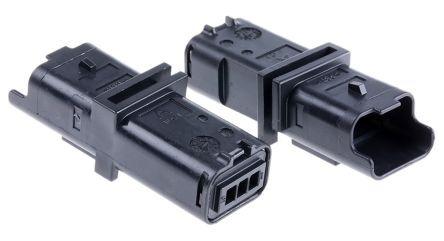 Delphi Corpo connettore automotive  Maschio, 3 vie, 1 fila, passo 3.33mm (5), 211PL032S0049
